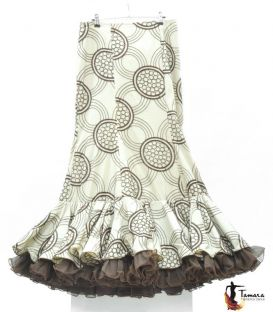 Flamenco Skirt Size 44 - Arena Brown and Beige