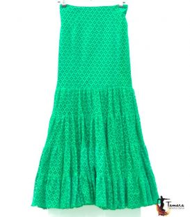 Flamenca skirt Size 44 - Candil Green lace