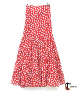 Flamenca skirt Size 48 - Candil red and white polka dots