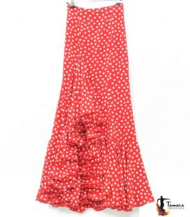 blouses and flamenco skirts in stock immediate shipment - Roal - Flamenca skirt Size 40 - Salinas white polka dots and red