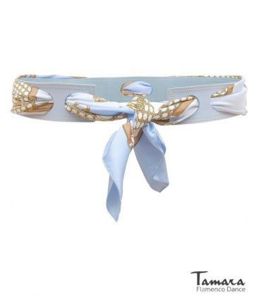 andalusian belts - - Leather belt with scarf (choose the color of your scarf)
