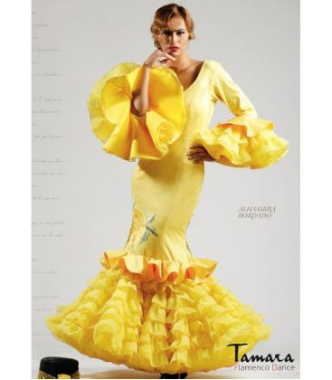 flamenco dresses woman in stock immediate shipping - Roal - Size 40 - Yellow Alhambra Embroidery (Same photo)