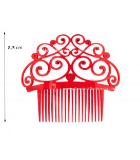 combs and small combs - - Small Comb 18 - Mother of Pearl & Gemstones