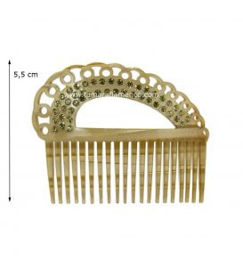 Small Comb Lima - Mother of Pearl & Gemstones