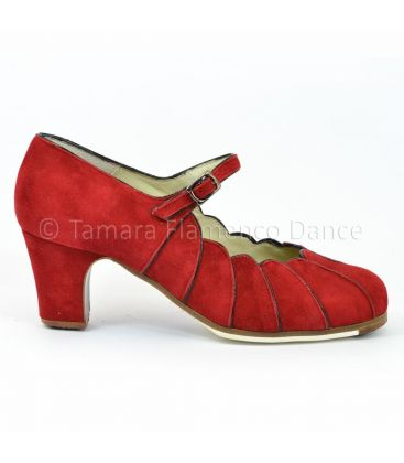 flamenco shoes professional for woman - Begoña Cervera - flamenco shoe begoña cervera red suede
