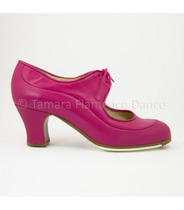 flamenco shoes professional for woman - Begoña Cervera - Angelito fucsia leather