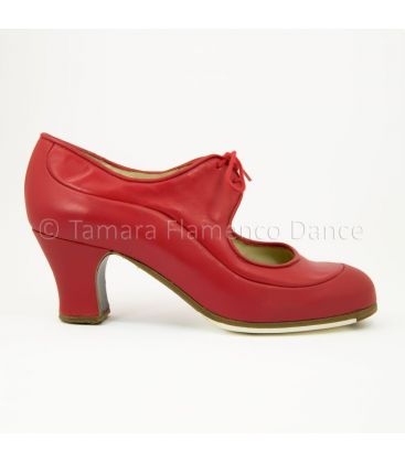flamenco shoes professional for woman - Begoña Cervera - Angelito red leather