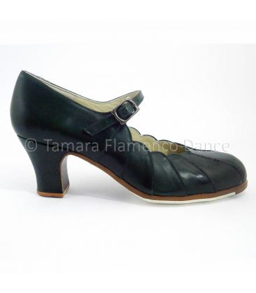 flamenco shoes professional for woman - Begoña Cervera - flamenco shoe begoña cervera black leather