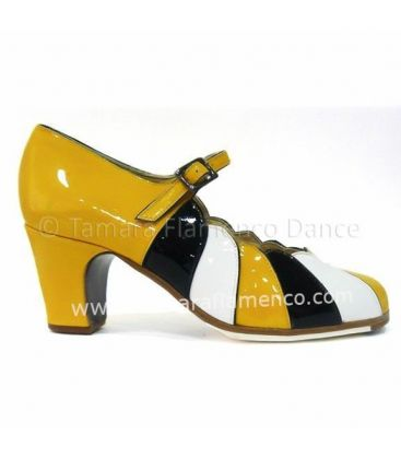flamenco shoes professional for woman - Begoña Cervera - flamenco shoe begoña cervera yellow patent leather