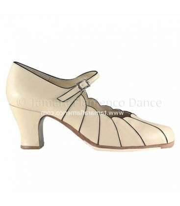 flamenco shoes professional for woman - Begoña Cervera - flamenco shoe begoña cervera beige leather