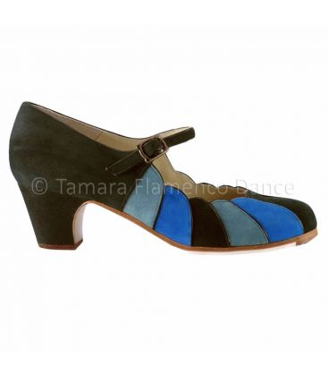 flamenco shoes professional for woman - Begoña Cervera - flamenco shoe begoña cervera tricolor blue