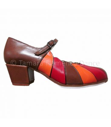 flamenco shoes professional for woman - Begoña Cervera - flamenco shoe begoña cervera tricolor leather