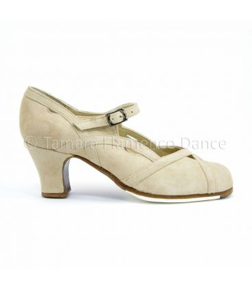 flamenco shoes professional for woman - Begoña Cervera - Arco II chino suede