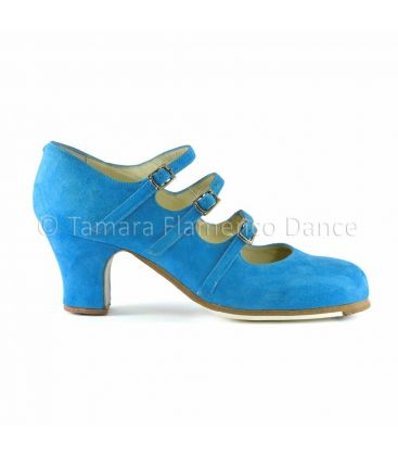 flamenco shoes professional for woman - Begoña Cervera - flamenco shoe begoña cervera 3 correas light blue