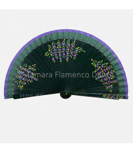 Spanish Fan Flowers design 01. Hand painted