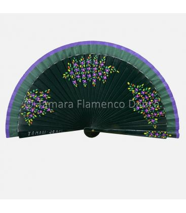 spanish fans - - Spanish Fan Flowers design 01. Hand painted