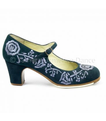 flamenco shoes professional for woman - Begoña Cervera - Bordado Correa II (embroidered)