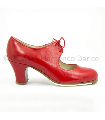 flamenco shoes professional for woman - Begoña Cervera - Cordonera red leather