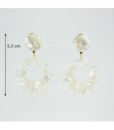 flamenco earrings - - Earrings 06 Mother-of-pearl