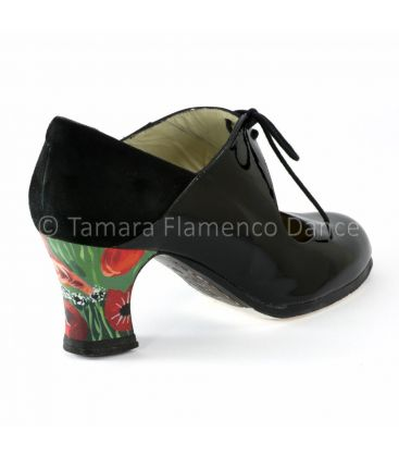 in stock flamenco shoes professionals - Begoña Cervera - Flamenco shoes begoña cervera arty black patent leather back