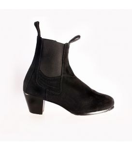 flamenco shoes for man - Begoña Cervera - Boto with zipper black suede