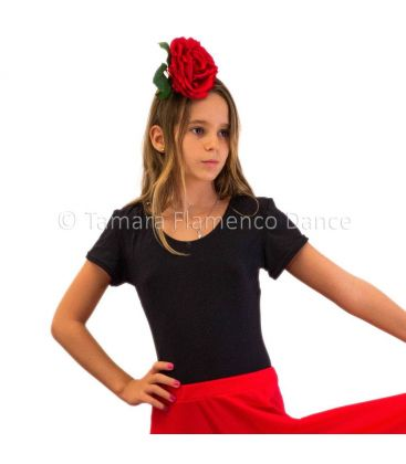 maillots bodys flamenco tops for girl - - Tamara (short sleeved) girl - Poliamide