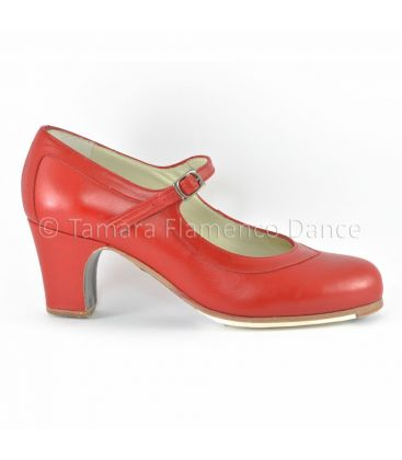 flamenco shoes professional for woman - Begoña Cervera - Salon Correa red leather