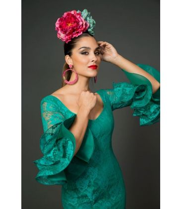 woman flamenco dresses 2015 - Aires de Feria - Carlina turquoise