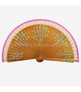 Hand painted fan (20 cm) - Flowers design (Customizable)