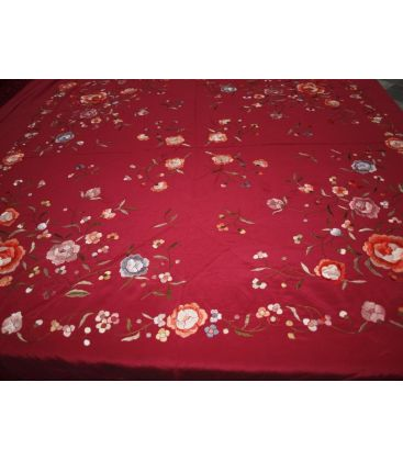 manila shawls - - Manila Shawls Floral Embroidery in colours