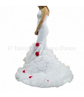 White Dress Tailed Gown