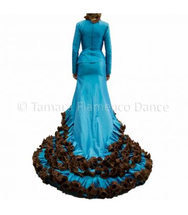 tailed gown bata de cola - - Turquoise Dress Tailed Gown