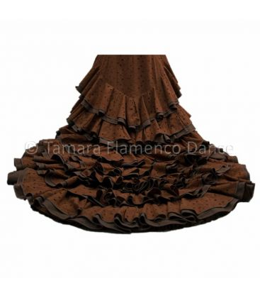 tailed gown bata de cola - - Brown/Beig Dress Tailed Gown