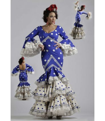 flamenco dresses 2016 - Roal - Petenera blue polka dots