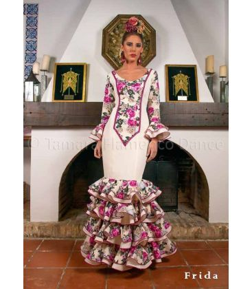 flamenco dresses 2016 -  - Frida beige & flowers