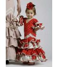 Picara red white polka dots for girl