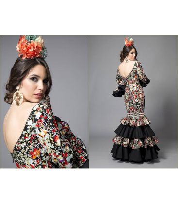 woman flamenco dresses 2016 - Aires de Feria - Bahia black and printed