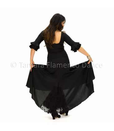 flamenco skirts for woman - - Almeria - Viscose with lace flounce (skirt-dress)