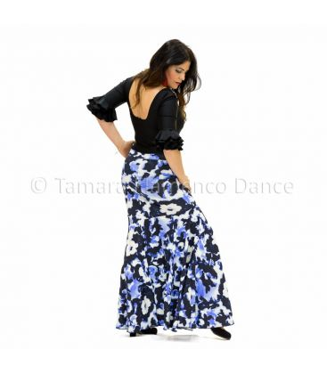 flamenco skirts for woman - - Granada blue printed- Lycra