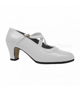 Semiprofessional Basic Crossed - white Leather TAMARA