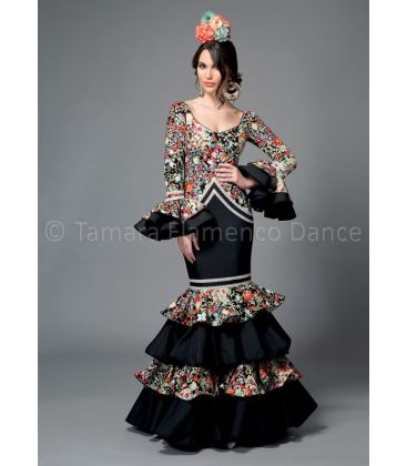 woman flamenco dresses 2016 - Aires de Feria - Bahia black & printed