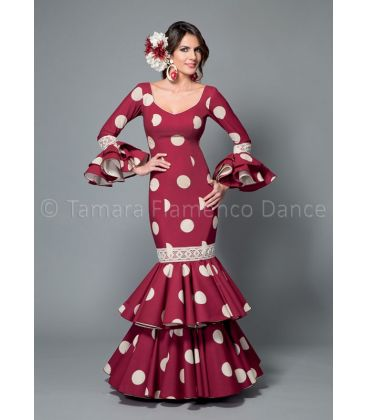 woman flamenco dresses 2016 - Aires de Feria - Brisa bordeaux & white polka dots