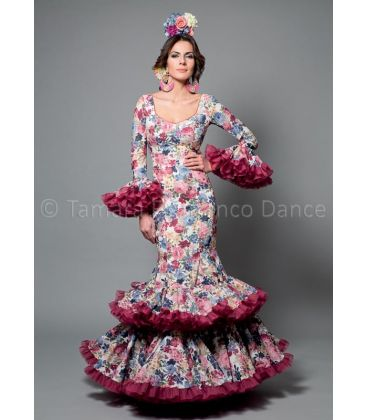 woman flamenco dresses 2016 - Aires de Feria - Copla flowers