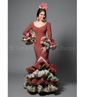 woman flamenco dresses 2016 - Aires de Feria - Feria brown with polka dots