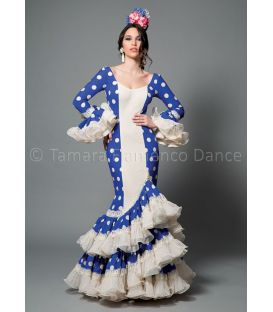 woman flamenco dresses 2016 - Aires de Feria - Manuela blue & white polka dots