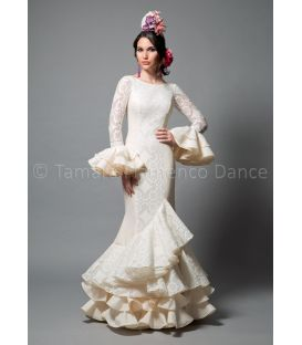 woman flamenco dresses 2016 - Aires de Feria - Pasarela white lace