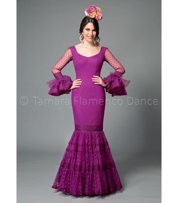 woman flamenco dresses 2016 - Aires de Feria - Paseo purple plumeti