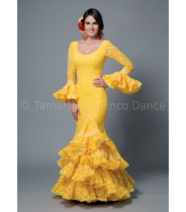 woman flamenco dresses 2016 - Aires de Feria - Sofia yellow lace