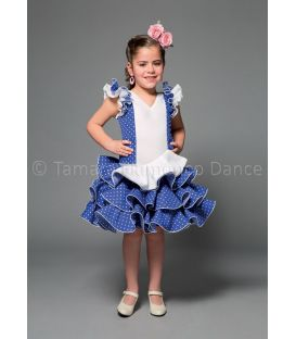 girl flamenco dresses 2016 - Aires de Feria - Encanto white & blue
