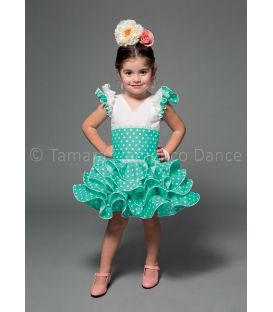 girl flamenco dresses 2016 - Aires de Feria - Clavel white & sea green